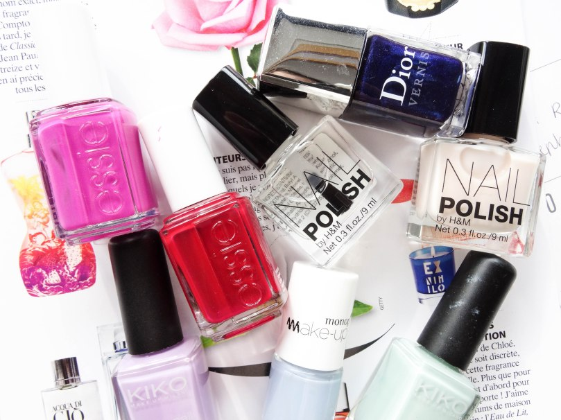 Nail polish H&M Dior Essie Kiko Monoprix